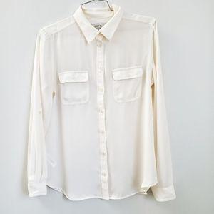 Ivory blouse | Loft petite